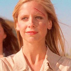 Buffy's face knowing Spike was a good man when he died