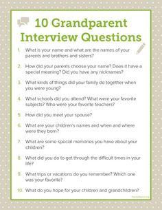 interview grandparents essay