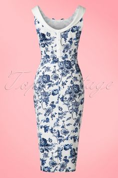 Collectif Cloting MaddisonToile Floral Pencil Dress