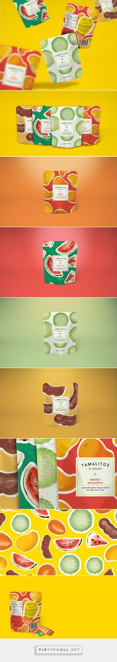 TAMALITOZ Candy Packaging project on Behance by The Welcome Branding Group curated by Packaging Diva PD. Yummy candy packaging.