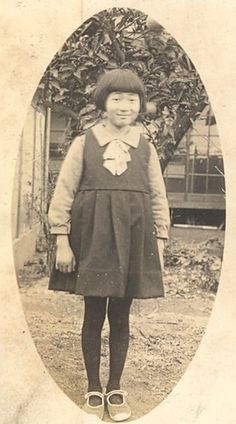 Portrait Girl Fashion Japan Sendai Old Photo 1910