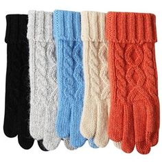 Love the grey, orange or blue - wool texting gloves
