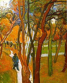 Vincent van Gogh, The Walk, Falling Leaves on ArtStack #vincent-van-gogh #art