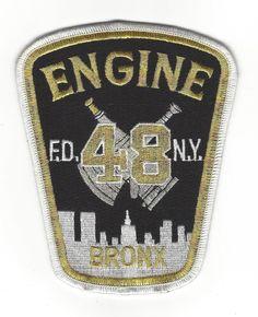 New York City NY Fire Dept FDNY Bronx Engine 48 E48 Patch Silver Bullion Nice…