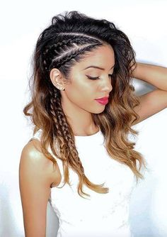 50 gorgeous braids hairstyles for long hair - hair :) - cheveux Medium Hair Styles, Curly Hair Styles, Natural Hair Styles, Braid Hair Styles, Bun Styles, Short Styles, Dress Styles, Beautiful Braids, Gorgeous Hair