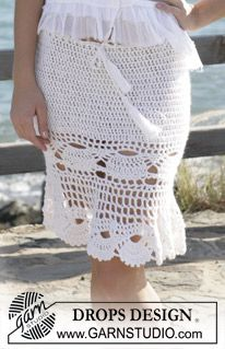 DROPS dress or skirt crochet pattern made. Sizes S - XXL   (free pattern for both)
