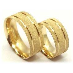 par de aliança ouro e prata 12gr 6 mm sedex grátis+ brinde!