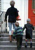 9 Jan 1992 Diana drops off Harry at his prep school
