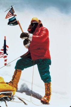 Jim Whittaker: The first American to summit Everest! He did so as a member of the American Mount Everest Expedition in 1963 led by Norman Dyhrenfurth. He summited on May 1, 1963 with the Sherpa Nawang Gombu (a nephew of Tenzing Norgay). They ran out of oxygen but managed to reach the summit. Once there, Whittaker planted a US flag at the top. So, can you hit like for Whittaker today? Good luck and always remember... it's cool to be cold!