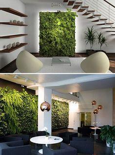 Indoor Vertical Gardens (http://blog.hgtv.com/design/2013/09/12/daily-delight-indoor-vertical-gardens/?soc=pinterest) #vertical_garden_lighting
