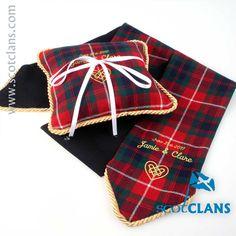 Fraser Tartan Ring Cushion. Free Worldwide Shipping Available