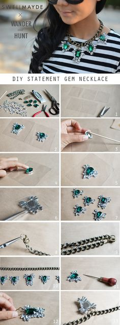 Buy the kit here. Kit Supplies: Rhinestones  Brass chain 12 jump rings Lobster claw E6000 adhesive BBQ stick Clear...