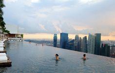 badass infinity pool on a city skyline