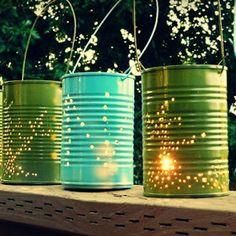 DIY Summer Tin Can Lanterns | AllFreeHolidayCrafts.com