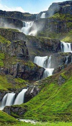 Iceland Waterfalls: The 15 Best Waterfalls in Iceland – Travel & Restaurants Beautiful Waterfalls, Beautiful Landscapes, Famous Waterfalls, Places To Travel, Places To See, Iceland Waterfalls, Iceland Travel, Amazing Nature, Belle Photo