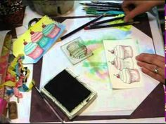 How-to use watercolor pencils for making cards or other art projects....by Lindsay, the frugal crafter.