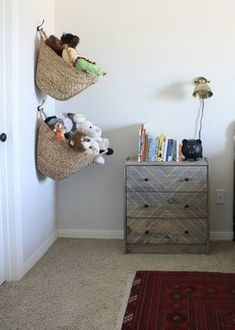 Soft Toy Storage Ideas Baby Rooms 46 Ideas Informations About Soft Toy Storage Ideas Baby Rooms 46 I Soft Toy Storage, Kids Storage, Storage Ideas, Hat Storage, Blanket Storage, Storage Baskets, Baby Boy Rooms, Baby Room, Boy Bedrooms
