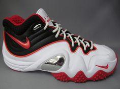 Nike Zoom Flight V- White, Red, and Black