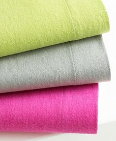 Solid Flannel Sheet Sets at macys
