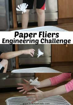 Keep your kids engaged during indoor days with a paper fliers engineering challenge. The sky is the limit as they cut and create unique paper fliers.