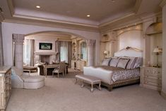 Barnhardt Residence - mediterranean - Bedroom - Las Vegas - Richard Luke Architects P.C.