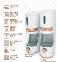 Voltaire Smart Grinder + Ever Cup Travel Mug by GIR: Get It Right — Kickstarter