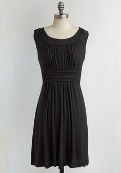 I Love Your Dress in Black. You'll really feel the adoration while wearing this black dress! #black #modcloth