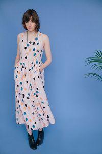 Image of Pink Rocks Long Pleat Dress