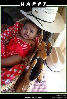 A big Texas cowgirl smile.