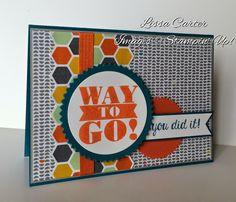 Starburst framelits, Confetti Celebration dsp, Island Indigo & Tangerine Tango ink & cs, Tangelo Twist satin ribbon