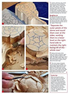 Rose Carving - Wood Carving Patterns - Wood Carving