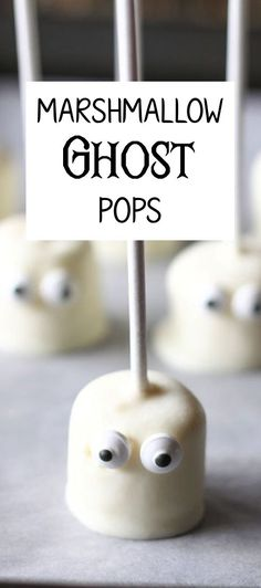 Marshmallow ghost pops are a joy to make and eat. It's a Halloween snack that isn't scary or gross, and really easy to make. You can even get the kids in on the fun! All you need is a packet of marshmallows, some good, high-grade white chocolate that will melt well, and a bag of candy eyeballs. Want to see how that all goes together? Ring eBay's doorbell for a trick or treat and get the full recipe there.