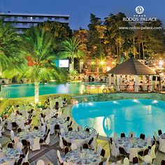 Rodos Palace gives sparkle to every Special Event.. #rodos #hotel_event #Rhodes #hotel #Greece #luxury #5star
