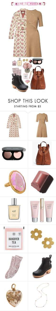 """""""It's 12 Roses"""" by jujubeeluvsu ❤ liked on Polyvore featuring Gucci, Bobbi Brown Cosmetics, PLANT, Madewell, Gara Danielle, By Terry, Steve Madden, Swedish Hasbeens, Eddie Borgo and Spring"""