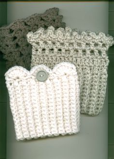 Boot Cuffs/Toppers Starter SET OF THREE White Wh/Gray by Kountry- 43.00- set of THREE, three styles