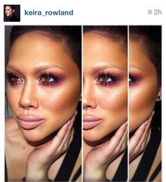 Keira Rowland- Cranberry smokey eye with nude lip...yes please!!