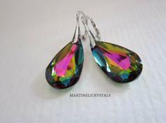 Vitrail Medium Rainbow Earrings Swarovski by MARTINELICRYSTALS Swarovski Crystal Earrings, Rainbow, Medium, Trending Outfits, Unique Jewelry, Handmade Gifts, Vintage, Etsy, Rain Bow