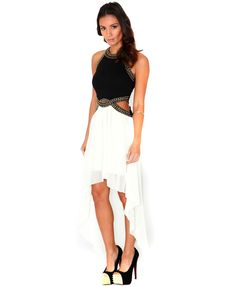 Linsey Studded Asymmetric Cut Out Dress $64.63