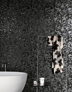 Fap Mosaici Dark Side Damasco Black & White by Fap Ceramiche