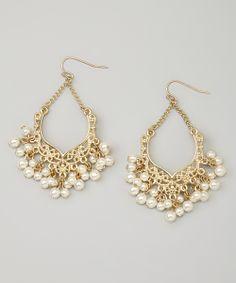 Gold & Pearl Isabel Drop Earrings