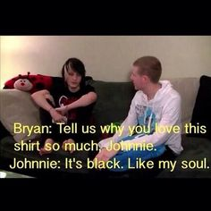 johnnie guilbert | Bryan Stars and Johnnie Guilbert LOL So many people won't get this joke but :333