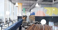 Moscow restaurant club interior design - Nastya Kolchina