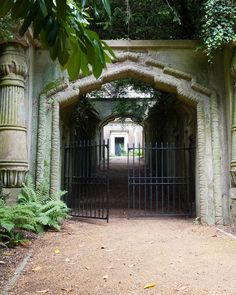 Highgate Cemetery West - Egyptian Avenue #inspiration for Dragon's Kiss #dragonshifterromance #urbanfantasy #ghosts #PNR book one of #DragonFate by #DeborahCooke