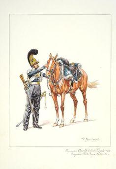 French; royal guard, Chasseurs a Cheval, Brigadier, Petite Tenue, 1815