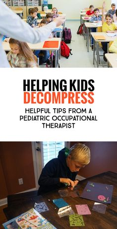 Helping Kids Decompress: Tips from a Pediatric Occupational Therapist. *Often don't realize how over stimulating school can be for any kid, and especially for kids who have some extra special sensory needs. After School Routine, School Routines, Preschool Curriculum, Preschool Activities, Educational Activities, Homeschool, Coping Skills Activities, Education Grants, Pediatric Occupational Therapy