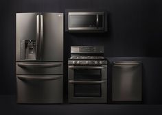 The LG Black Stainless Steel Series —  Can't wait to get your hands on it? Luckily for you, the finish is fingerprint-resistant. The new line has the classic appeal of traditional stainless, but with a contemporary character all its own. It's style that changes everything, and it's available now.