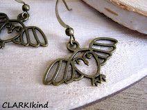 Ohrringe Vintage Eulen Bronze von CLARKIkind