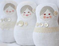 Fabric nesting dolls