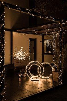 Terrasse weihnachtlich beleuchten - Soul follows design Ganpati Decoration At Home, Diwali Decorations At Home, Diy Wedding Decorations, Festival Decorations, Christmas Decorations, Diwali Lights, Diwali Lantern, Christmas Interiors, Diy Christmas Tree