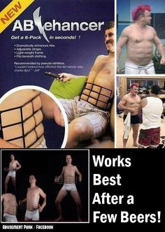 Ab enhancers, guaranteed 6 pack before you finish your six pack